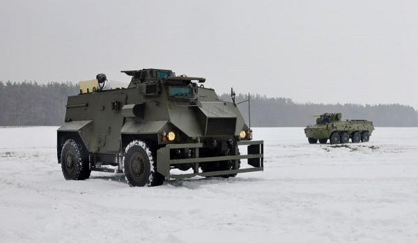 Saxon podczas prób na Ukrainie (fot. Ukroboronprom)