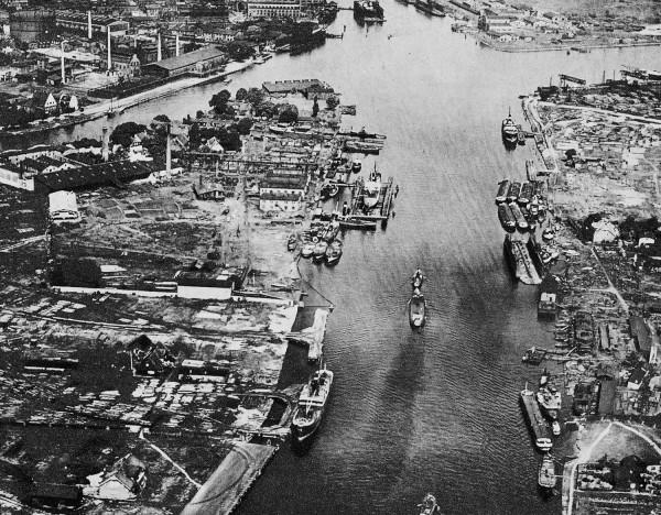 Port w Gdańsku w 1929 roku