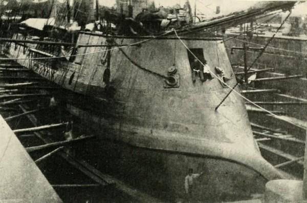 CSS Stonewall podczas budowy