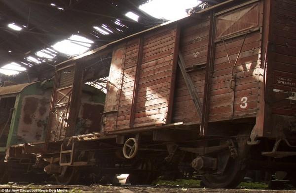 Ten wagon prawdopodobnie wykorzystywano do transportu Żydów (fot. Mathew Growcoot)