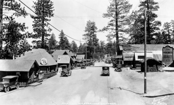 Big Bear Village około 1920 roku (fot. USC Digital Library)