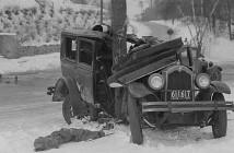 Wypadki drogowe w latach 20-tych - zdjęcia