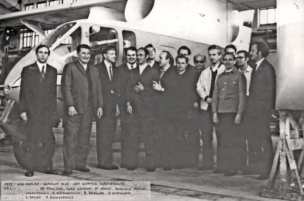 Komisja makietowa PZL M-15 w WSK-Mielec, 1972 r. (fot. Józef Oleksiak)