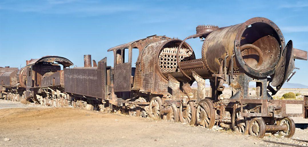 Cmentarzysko pociągów w Uyuni