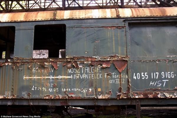 Jeden z opuszczonych wagonów (fot. Mathew Growcoot)