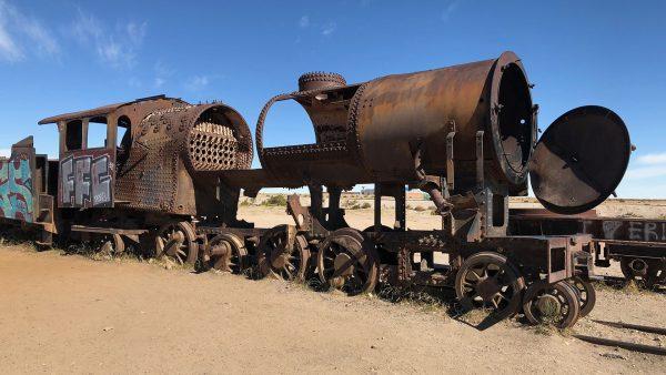 Cmentarzysko pociągów w Uyuni (fot. pixabay.com)