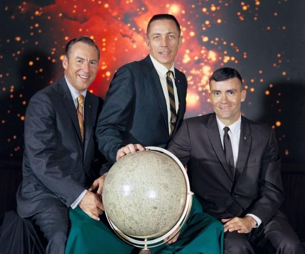 Załoga Apollo 13 z Swigertem - James Lovell, Jack Swigert i Fred Haise