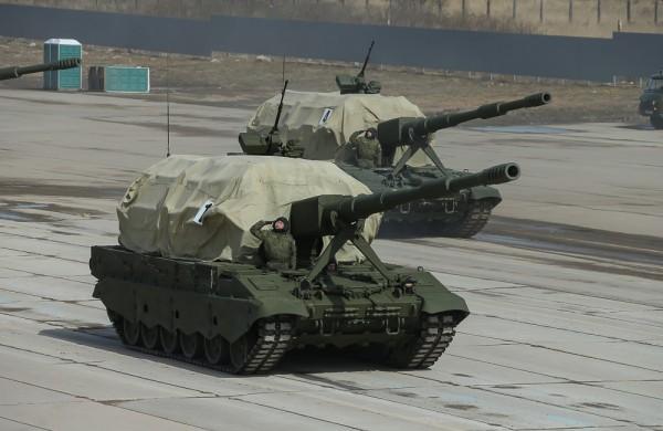 Artyleria samobieżna Koalicja-SW (fot. englishrussia.com)