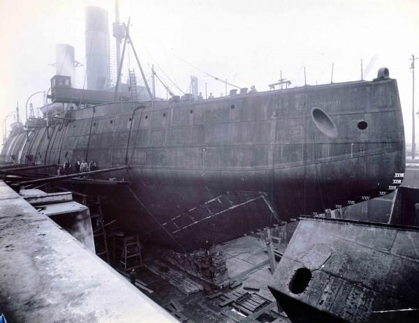 Jermak podczas remontu w suchym doku