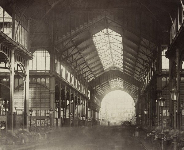 Les Halles Centrales 1874 (fot. Charles Marville)