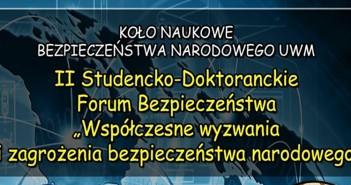 II Studencko-Doktoranckie Forum Bezpieczeństwa - 23.05.2015