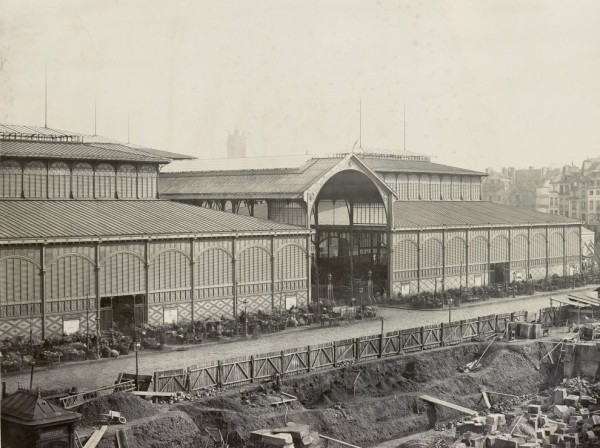 Les Halles centrales 1867 (fot. Charles Marville)