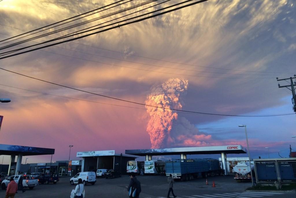 Erupcja wulkanu Calbuco (fot. Giordona Schmidt)