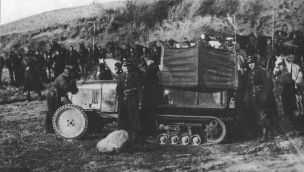 Ciągnik Citroen-Kegresse B2 10CV w 1930 roku