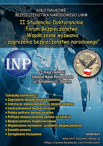 II Studencko-Doktoranckie Forum Bezpieczeństwa