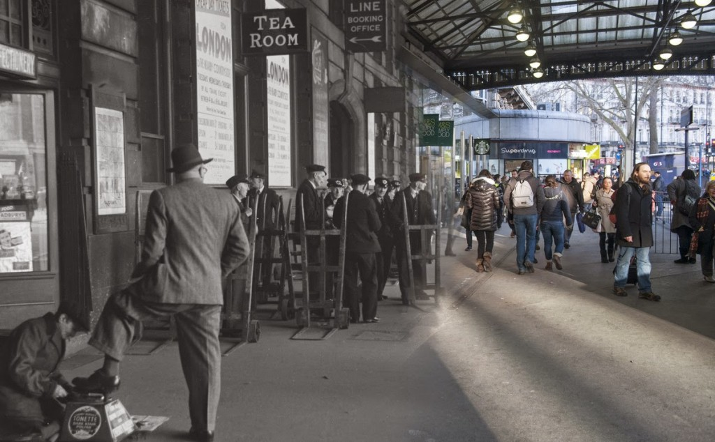 Victoria station w 1950 roku i współcześnie
