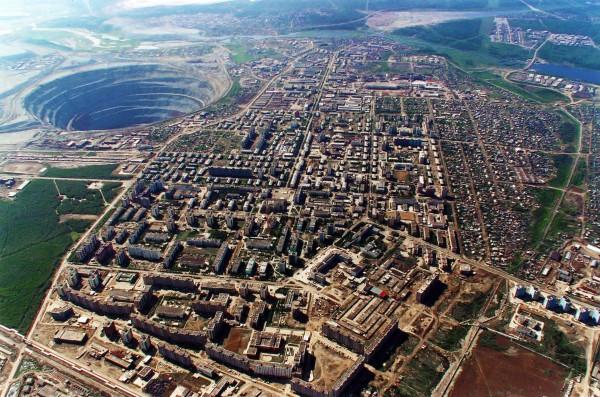 Kopalnia diamentów Mir w Rosji
