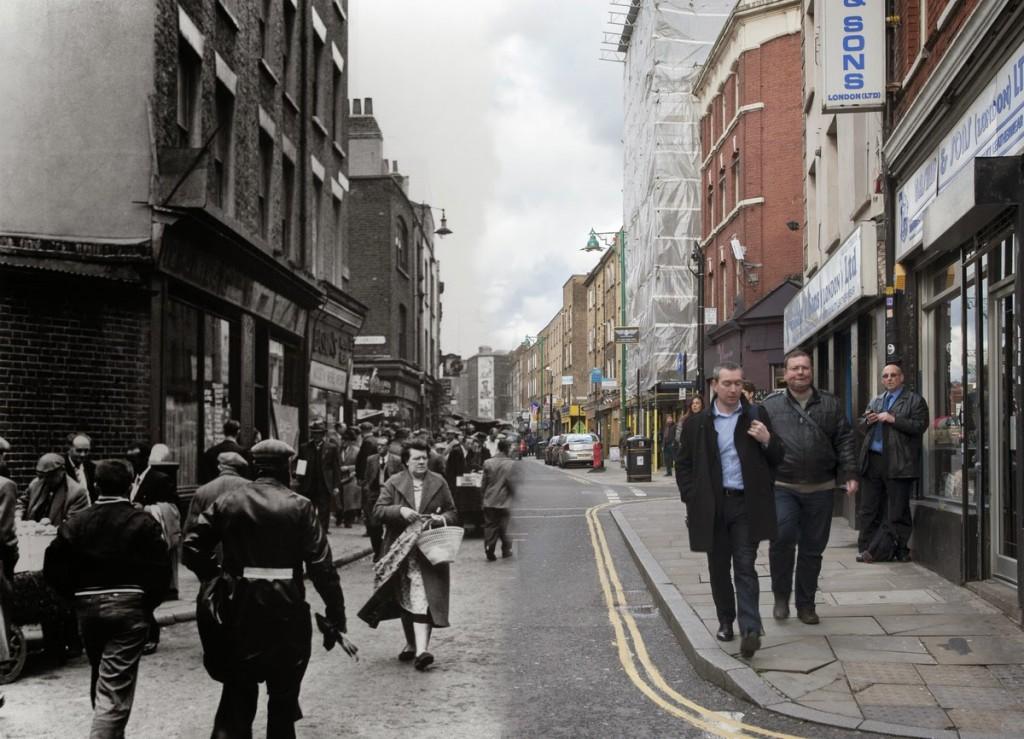 Widok na ulicę Brick Lane