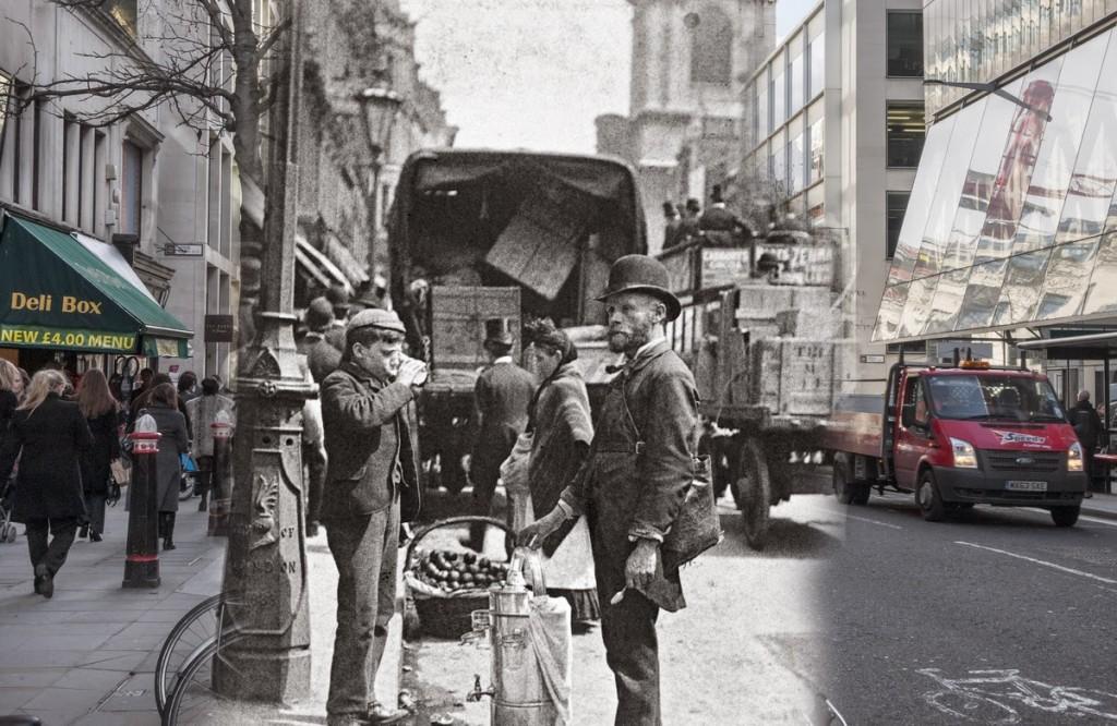 Uliczni handlarze na Cheapside (fot. Paul Martin)