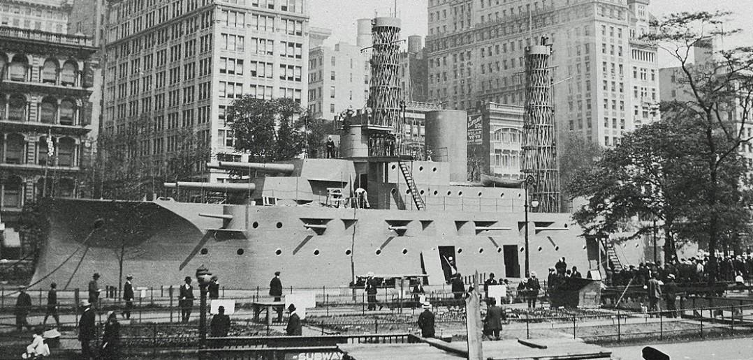 USS Recruit - drewniany pancernik z Nowego Jorku