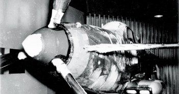 Kadłub P-39 Aircobra podczas testów w Icing Research Tunnel