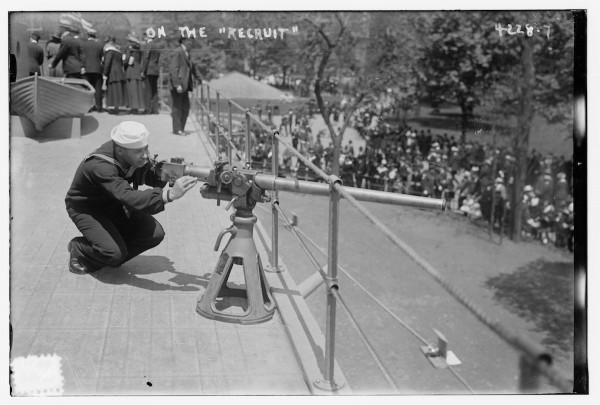 Rekrut podczas treningu na USS Recruit