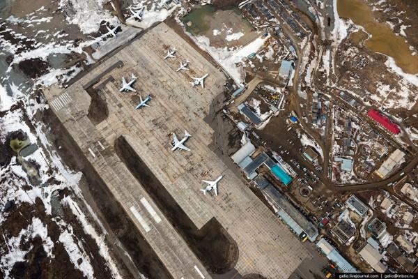 Lotnisko w mieście Mirny (fot. Gelio)