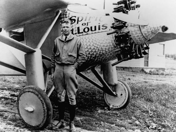 Charles Lindbergh i jego Spirit of St. Louis