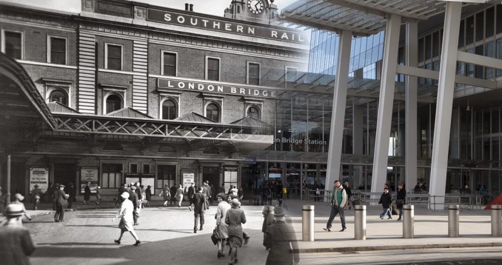 Widok na budynek Southern Railway's niedaleko London Bridge. Budynek powstał w 1836 roku.