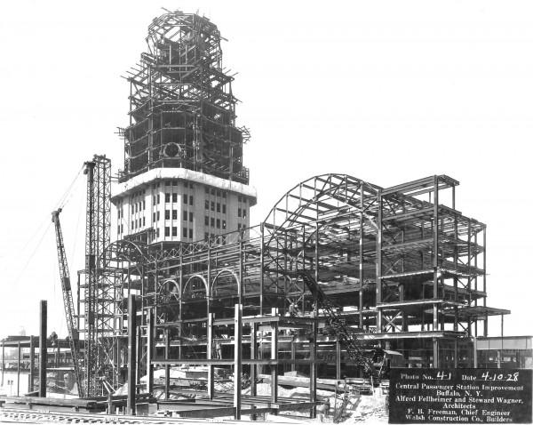 Buffalo Central Terminal podczas budowy 4, października 1928 roku