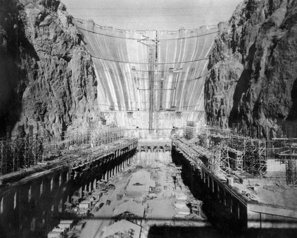 Zapora Hoovera podczas budowy