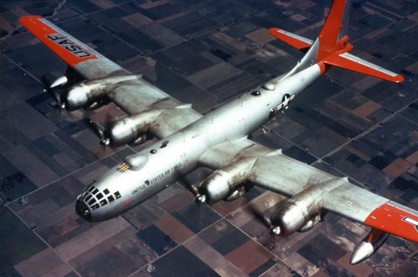 """Boeing RB-50F o nazwie włąsnej """"Macs Effort"""" (fot. USAF)"""