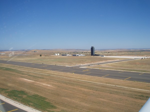 Port lotniczy Ciudad Real w 2009 roku (fot. Africa Twin)