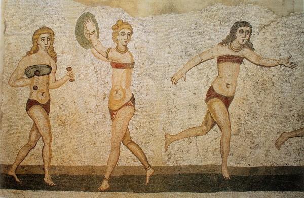 Jedna z najstarszych ilustracji skąpego stroju kąpielowego znaleziona w Rzymskiej Villa Romana del Casale