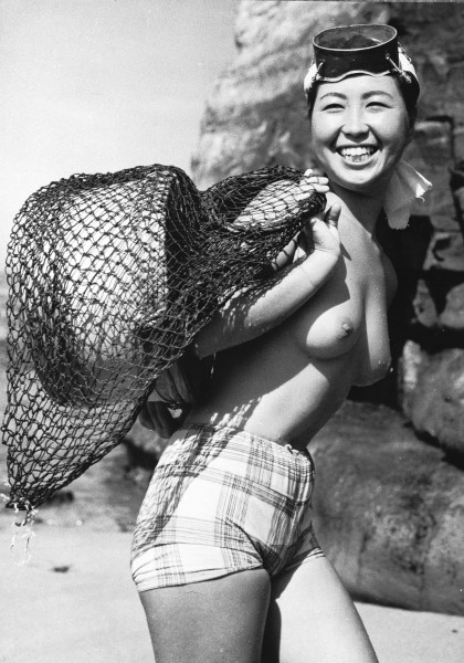 Japońska Ama w 1959 roku (fot. Keystone Features)