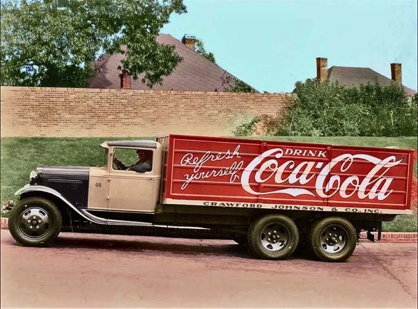 Ciężarówka dostawcza Coca Coli z 1931 roku - Ford Model AA (fot. Coca Cola/Willie Brown)
