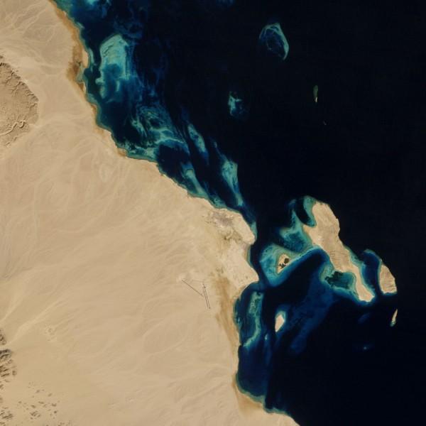 Al-Dżuna w 1985 roku - 28 stycznia 1985 (fot. NASA)
