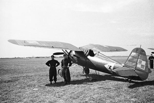 Jeden z polskich myśliwców P-11