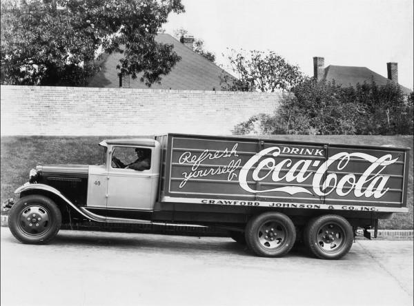 Ciężarówka dostawcza Coca Coli z 1931 roku - Ford Model AA (fot. Coca Cola)