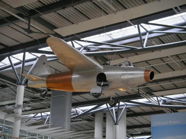 Replika He 178 w muzeum