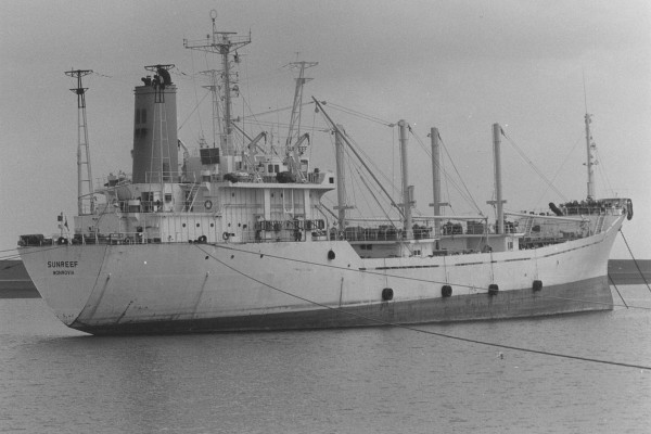 Statek jeszcze pod nazwą MV Sunreef