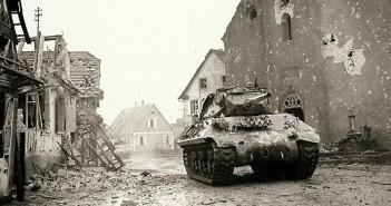 Przekraczanie granicy Niemiec - 1945 rok - zdjęcie