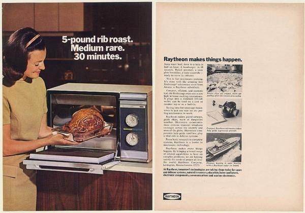 Reklama mikrofalówki Raytheon