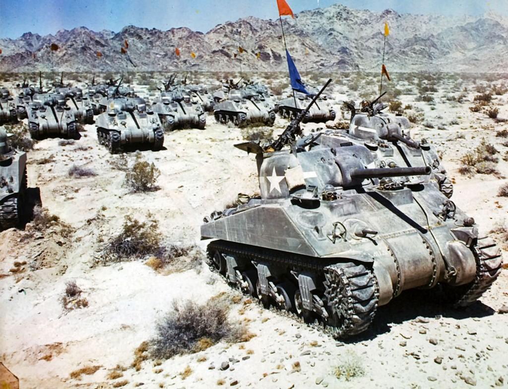 Amerykańskie Shermany w Afryce w 1942 roku