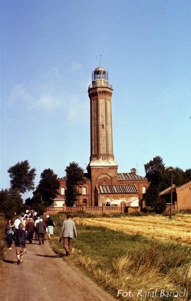 Latarnia Morska Niechorze w 1987 roku (fot. Rafał Banach)