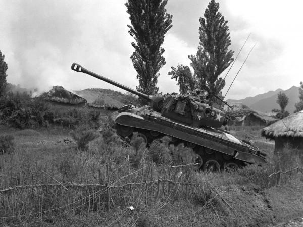 M26 Pershing w trakcie walk w Korei w latach 50.