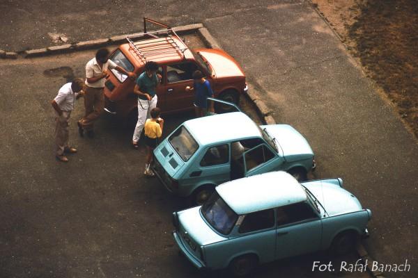 Fiaty 126p i Trabant - 1988 rok (fot. Rafał Banach)