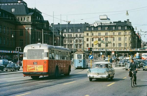Sztokholm w 1962 roku (fot. Stockholm Transport Museum)