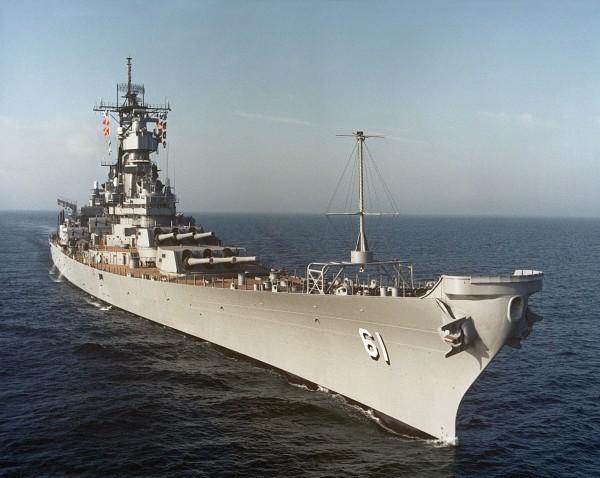 USS Iowa w 1984 roku