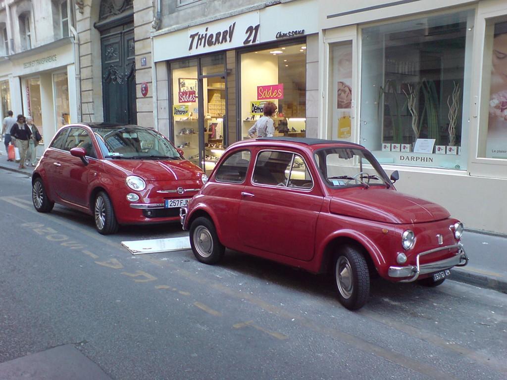 Stary i nowy Fiat 500